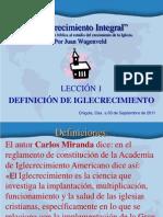 LECCIÓN 1, DEFINICIÓN DE IGLECRECIMIENTO