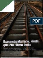 Expansão da rede ainda que em ritmo lento - Valor Setorial - Infraestrutura - Maio 2012