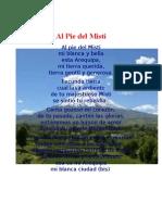 Al Pie Del Misti