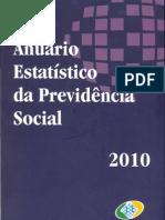 Anuário estatístico da Previdencia Social 2010