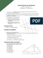 Autoevaluación de semejanzas 4º ESO 2012