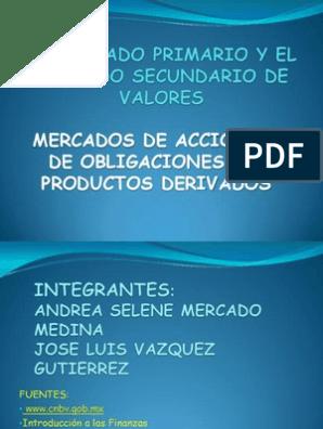 Mercado primario y secundario de valores pdf