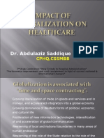 Impact of Globalization on Healthcare