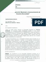 Tintaya Marquiri pidió a ministro Jorge Merino mejor distribución de ganancias mineras (Carta Nº 003-CCTM-2012)