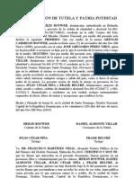 ACTO DE CESIÓN DE TUTELA Y PATRIA POTESTAD serafin