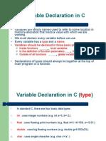 CS 120 Variable Declaration