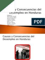 Causas y Consecuencias Del Desempleo en Honduras