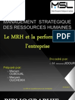 Mrh & Performance de l'Entreprise