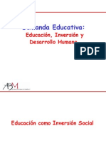 DEMANDA EDUCATIVA