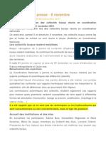 Communiqué de presse collectifs locaux - 06 novembre 2011 - Jaujac
