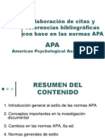 Presentación APA 2011