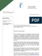Lettre à Fillon