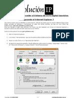 Instrucciones Para Acceder Al Sistema de CCTV Digital Con Internet Explorer 7
