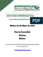 Sintesis Informativa 29 05 2012