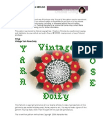 Crochet Vintage Yarn Rose Doily