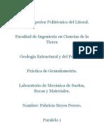 Geologia Estructural Practica de Granulometria