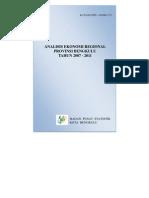 Ekonomi Regional Bengkulu 2007 - 2011
