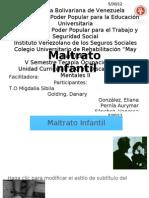Terapia Ocupacional en Maltrato Infantil