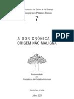 A DOR CRÓNICA DE ORIGEM NÃO MALIGNA