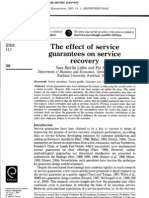 The Effect of Service Guarantees