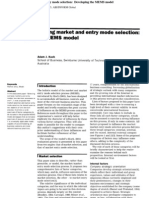 Factors Influencing Market and Entry Mode Selection
