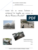 Causas (naturais e antrópicas) da tragédia que ocorreu na ilha da Madeira (Funchal)