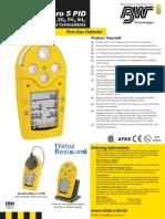 Detector de gases explosivos portátil