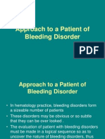 Approach to a Patient of Bleeding Disorder
