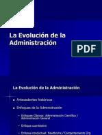 Unidad II La Evolución de la Administración
