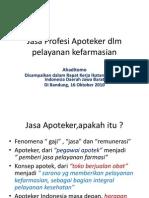 Jasa Profesi Apoteker