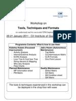 Workshop on Tools
