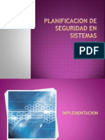 Planificacion de Seguridad en Sistemas