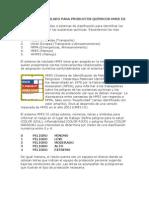 SISTEMA DE ROTULADO PARA PRODUCTOS QUÍMICOS HMIS III