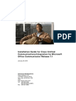 Installation Guide for Cisco UC Integration for Microsoft Office Communicator Release 71