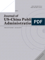 The Abstract of Journal of US-China Public Administration (2011.01)