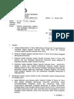 Surat Kapolri Nomor 247 Tahun 2011 ttg Tata cara pengumuman pengadaan Barang dan jasa dilingkungan Polri