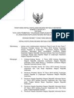 Perkap No. 6 tahun 2011 ttg Tata Cara Pemberian Tunjangan Kinerja