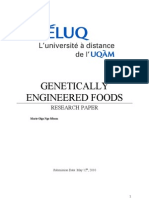 Research Paper on Genetic Engineered Foods