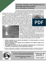 Reclamo de internos del pabellón 3 de Boulogne Sur Mer, Mendoza