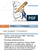 La Evaluacion Segun Cronbach