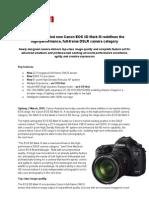 Canon EOS 5D Mark III Press Release
