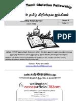 Wellington Tamil Christian Fellowship News Letter June 2012