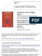Arab Migrants and Islamization in the Malay World During the Colonial Period
