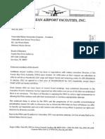 Carta CAF APP Aeropuerto NotiCel