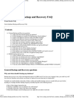 Oracle Database Backup and Recovery FAQ - Oracle FAQ