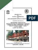 M. Tech & M. Sc Prospectus 2012 (1)