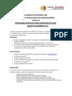 Convocatoria Becas  Exención de Pago  Agosto - Diciembre 2012