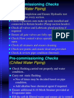 Pre Commissioning Checks