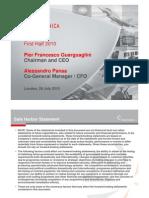 Finmeccanica 1H 2010 Results Presentation
