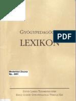 Mesterhazi Zsuzsa-Gyogypedagogiai Lexikon